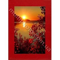 Фоторамка деревянная красная Руноко