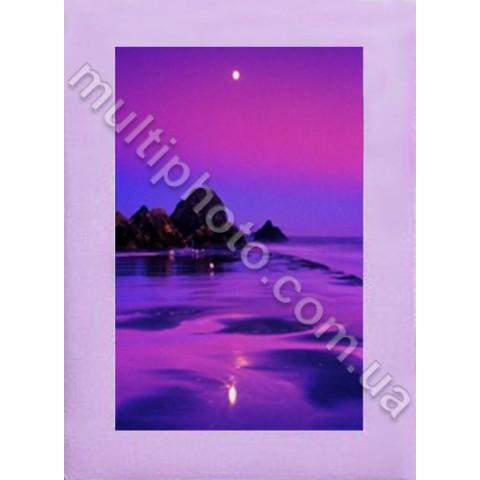 Фоторамка деревянная светло-фиолетовая Руноко