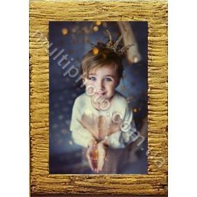 Фоторамка деревянная двойное золото Руноко