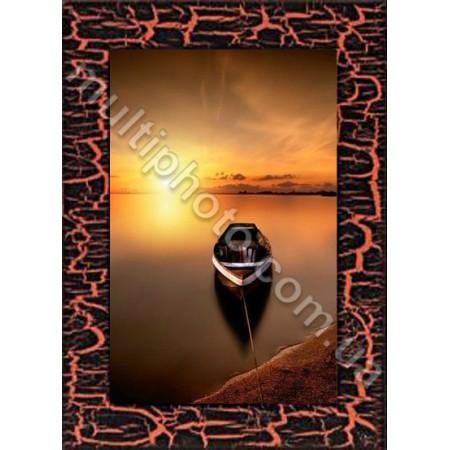 Фоторамка деревянная медные струны Руноко