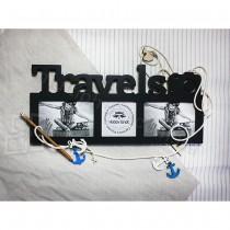 Древянная мультирамка Travels на 3 фото