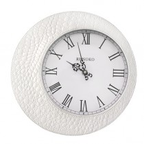 Часы настенные Runoko Leather White