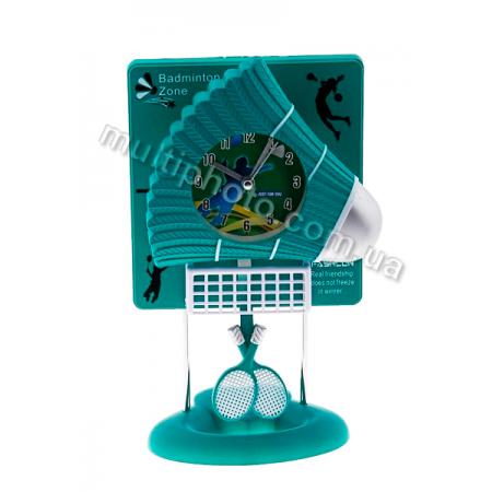 Часы настольные Runoko Бадминтон зеленые