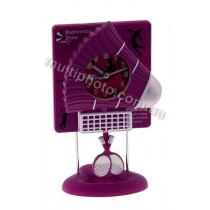 Часы настольные Runoko Бадминтон фиолетовые
