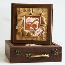 Кожаный фотоальбом детский Inobili Balocco розовый BLros 33x33см