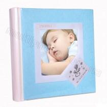 Кожаный фотоальбом детский Inobili Candore голубой CANazz 33x33см