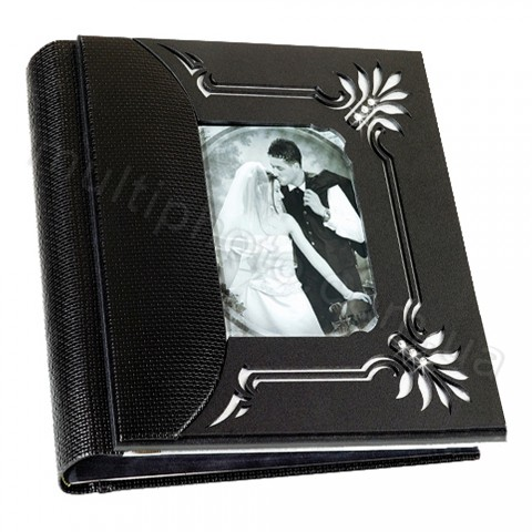 Кожаный фотоальбом Inobili Mambo черный M121NERO 35x35см