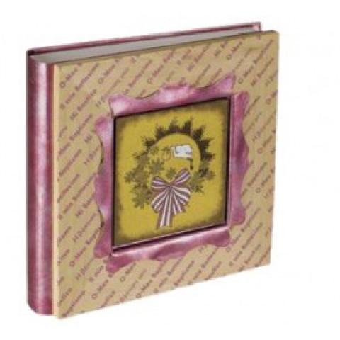Кожаный фотоальбом детский Inobili Incanto розовый 33x33см