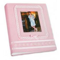 Кожаный фотоальбом детский Inobili Tenerezza розовый TENros 33x33см