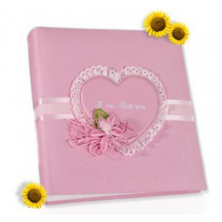 Кожаный фотоальбом детский Inobili Sogno розовый SOGros 33x33см