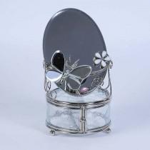 Шкатулка с зеркалом зеркальная бабочка 300-MB