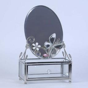 Шкатулка с зеркалом зеркальная бабочка 300-MB-B