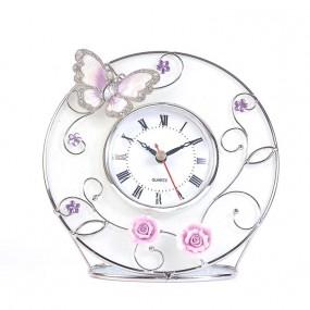 Часы бабочка на чайной розе 307-CK
