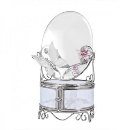 Шкатулка с зеркалом зеркальная бабочка 320-MB-A
