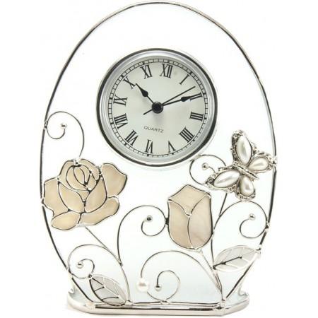 Часы Jardin D`ete бабочка с розой 15796
