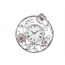 Часы Jardin D`ete бабочка и цветок 19202D