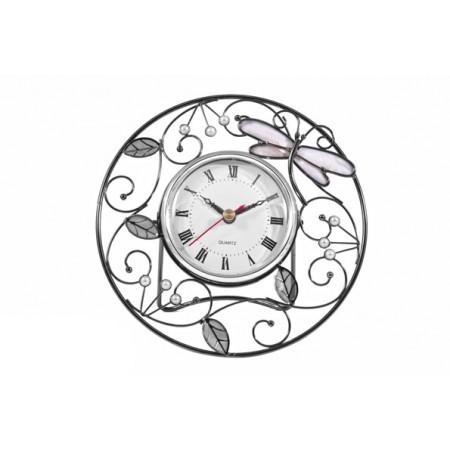 Часы Jardin D`ete стрекоза и листочки 19205D