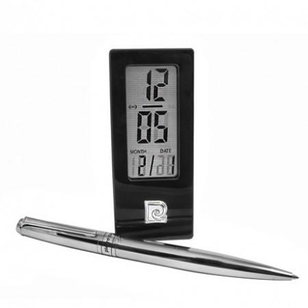 Набор часы и ручка хром Pierre cardin PR2607/C