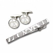 Заколка для галстука и запонки S.Quire EG-16466