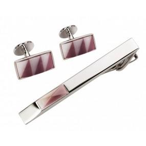 Заколка для галстука и запонки S.Quire EG-16467