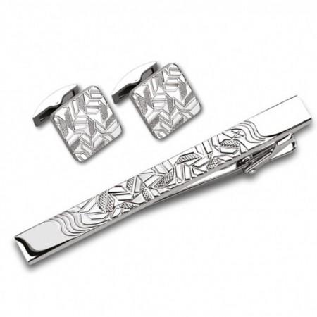 Заколка для галстука и запонки S.Quire EG-16468