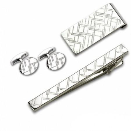 Заколка для галстука и запонки S.Quire EG-16469