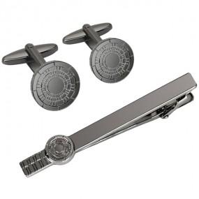 Заколка для галстука и запонки S.Quire EG-17337