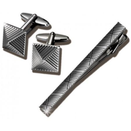 Заколка для галстука и запонки S.Quire EG-17342