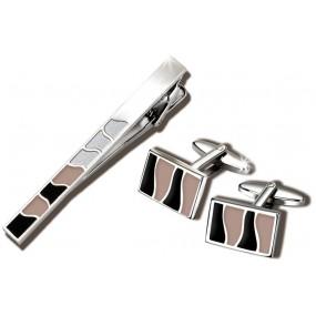Заколка для галстука и запонки S.Quire EG-17343