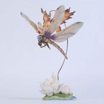 Статуэтка Veronese крошка-фея сидящая на стрекозе 72458