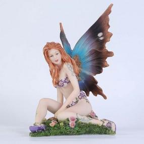 Статуэтка Veronese юная фея на цветочном поле 73295