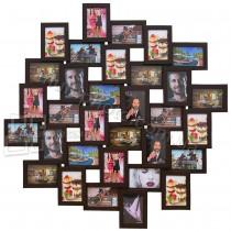 Мультирамка Облако Венге на 32 фото Руноко 100x100 см