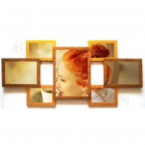 Мультирамка Семерка Двойное Золото на 7 фото 85x40 см