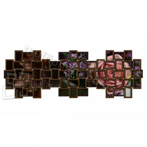 Мультирамка Руноко Три острова-L Золотой Шоколад 200x75 см