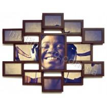 Мультирамка Симметрия Венге на 13 фото Руноко 85x70 см