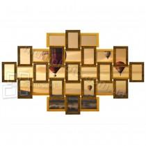 Фоторамка Руноко Форт-L Двойное Золото на 29 фото