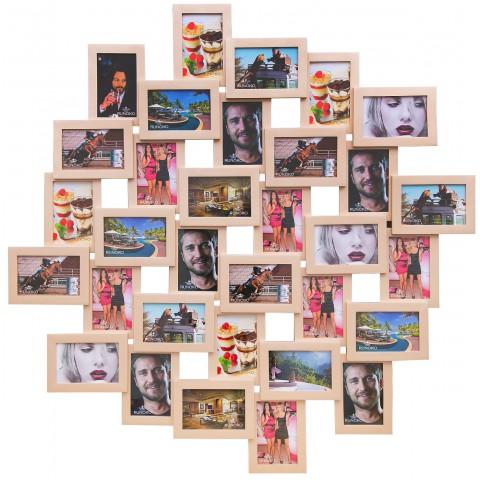 Мультирамка Облако Беж на 32 фото Руноко 100x100 см