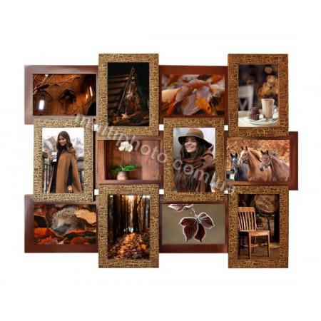 Мультирамка Шоколад 12 на 12 фото Руноко 60x50 см