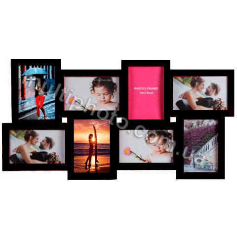 Мультирамка Extra Black на 8 фото Hidu 60x30 см