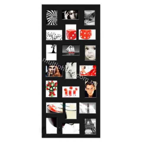 Мультирамка Черная Multimus на 21 фото 120x50 см