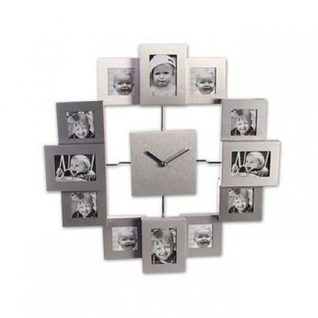 Мультирамка с часами Runoko Nanu-Nana на 12 фото 35x35 см