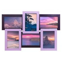 Мультирамка Фиолетовая 6 на 6 фото Руноко 50x33см
