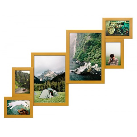 Мультирамка Метровая Золото на 6 фото Руноко 80x60 см