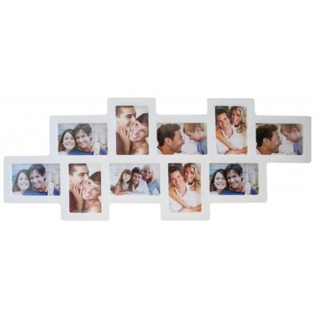 Мультирамка Hidu 10-Z White на 10 фото 90x35 см