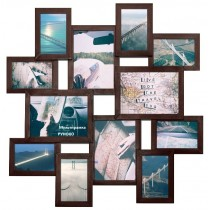 Мультирамка Путешествие Венге на 12 фото Руноко 70x70 см