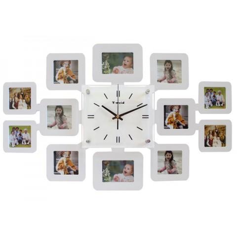 Мультирамка с часами RT Instagram-2 White на 12 фото 62x42 см