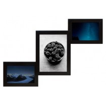 Мультирамка Лесенка-3 Черная на 3 фото Руноко 52x32 см