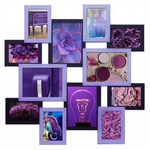 Мультирамка Путешествие Фиолетовая на 12 фото Руноко 70x70 см