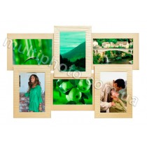 Мультирамка Яркий Беж 6 на 6 фото Руноко 50x33 см