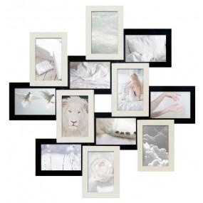 Мультирамка на 12 фото Руноко Зигзаг Белое и Черное 65x65 см